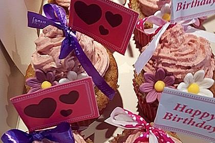 Strawberry - Cupcakes bzw. Erdbeer - Cupcakes