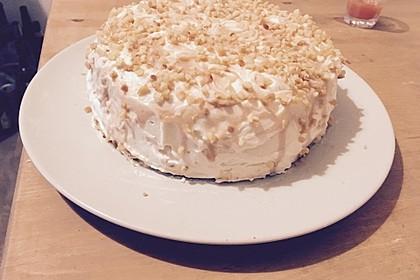 Apfel - Walnuss Torte mit Karamell - Cream Cheese Frosting 3