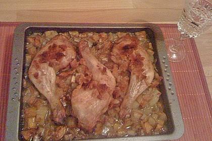 Brathähnchen mit Süßkartoffeln und Butternut Kürbis 23