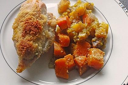 Brathähnchen mit Süßkartoffeln und Butternut Kürbis 18