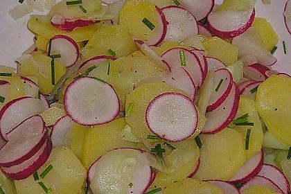 Schneller Kartoffel - Radieschen - Salat 7