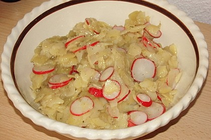 Schneller Kartoffel - Radieschen - Salat 5