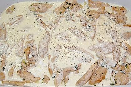 Gratiniertes Knoblauch - Sahne - Hähnchen