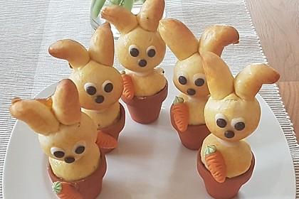 Osterhäschen im Tontopf 7