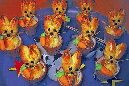 Osterhäschen im Tontopf 52