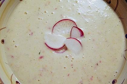 Kartoffel - Radieschensuppe 2