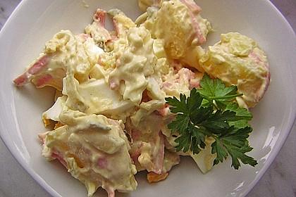 Kartoffelsalat nach Mutters Art mit Fleischsalat 4