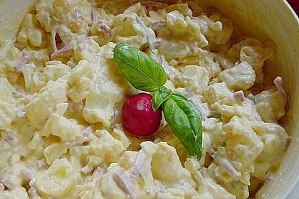 Kartoffelsalat nach Mutters Art mit Fleischsalat 8