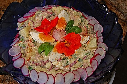 Kartoffelsalat nach Mutters Art mit Fleischsalat 5