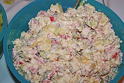 Kartoffelsalat nach Mutters Art mit Fleischsalat 9