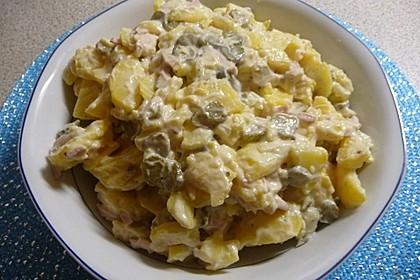 Kartoffelsalat nach Mutters Art mit Fleischsalat 6