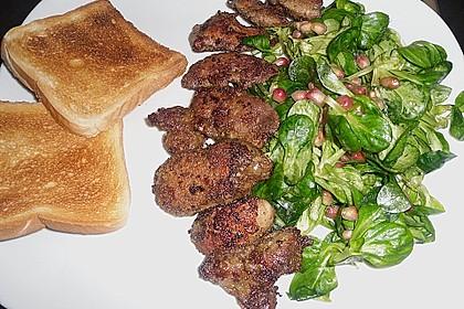 Granatapfel und Feldsalat mit Geflügelleber 3