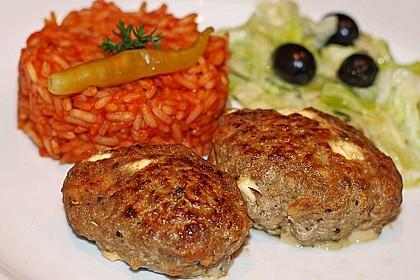 botos Bifteki mit griechischem Tomatenreis