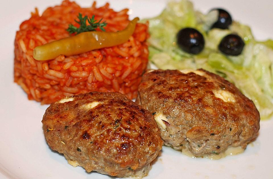 Griechische Küche Rezepte | Botos Bifteki Mit Griechischem Tomatenreis Von Boto Chefkoch De