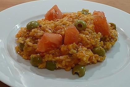 Tomatenrisotto mit Oliven