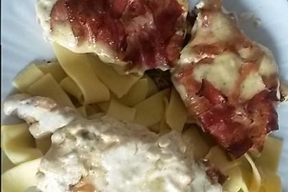 Schweinefilet in Bacon mit Frischkäsesoße überbacken 1