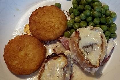 Schweinefilet in Bacon mit Frischkäsesoße überbacken 17