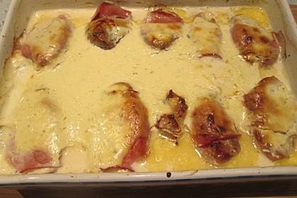 Schweinefilet in Bacon mit Frischkäsesoße überbacken 21