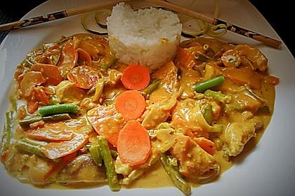Thai Curry Erdnuss - Kokos - Hühnchen 62