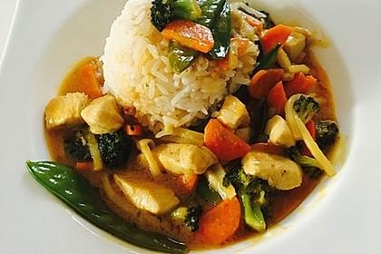 Thai Curry Erdnuss - Kokos - Hühnchen 4