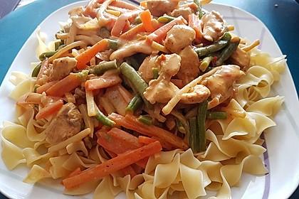 Thai Curry Erdnuss - Kokos - Hühnchen 10