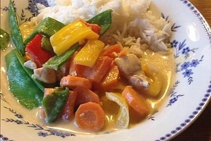 Thai Curry Erdnuss - Kokos - Hühnchen 28
