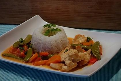 Thai Curry Erdnuss - Kokos - Hühnchen 3