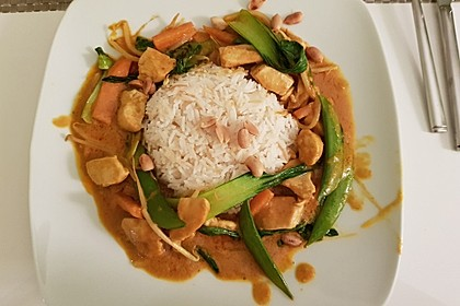 Thai Curry Erdnuss - Kokos - Hühnchen 6