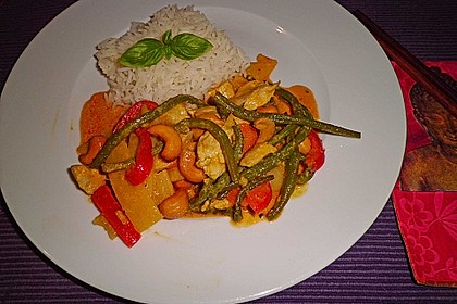 Thai Curry Erdnuss - Kokos - Hühnchen 16