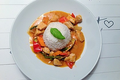Thai Curry Erdnuss - Kokos - Hühnchen 8