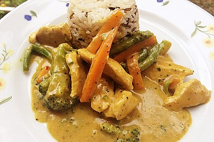 Thai Curry Erdnuss - Kokos - Hühnchen 9