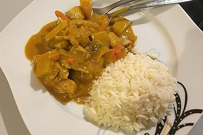 Thai Curry Erdnuss - Kokos - Hühnchen 44