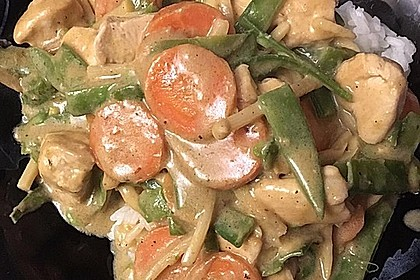Thai Curry Erdnuss - Kokos - Hühnchen 14