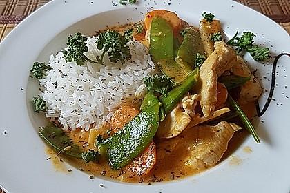 Thai Curry Erdnuss - Kokos - Hühnchen 12
