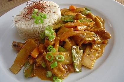 Thai Curry Erdnuss - Kokos - Hühnchen 7