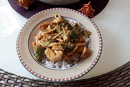 Thai Curry Erdnuss - Kokos - Hühnchen 45