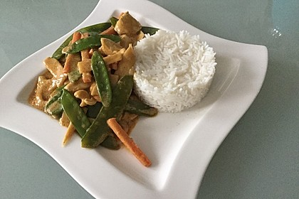 Thai Curry Erdnuss - Kokos - Hühnchen 13
