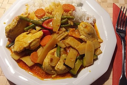 Thai Curry Erdnuss - Kokos - Hühnchen 23