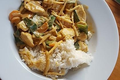 Thai Curry Erdnuss - Kokos - Hühnchen 61