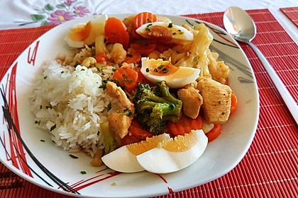 Thai Curry Erdnuss-Kokos-Hühnchen 25