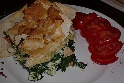Orientalische Pastete mit Spinat und Schafskäse 2