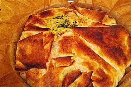 Orientalische Pastete mit Spinat und Schafskäse 4