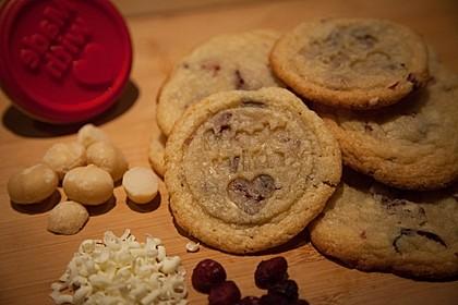 Cranberry - Macadamia Plätzchen mit weißer Schokolade
