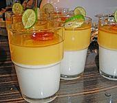Milchflan mit Orange (Bild)