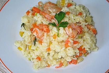 Reispfanne mit Shrimps