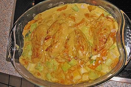 Hähnchen - Curry - Auflauf