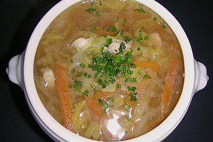 Gemüsesuppe mit zartem Hühnerfleisch 3