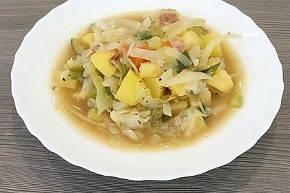 Weißkohl - Eintopf mit Kasseler 2