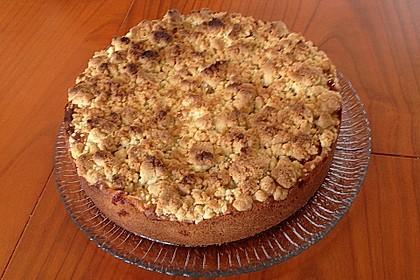 Mürbeteig Apfel - Vanille - Kuchen mit Streuseln 2