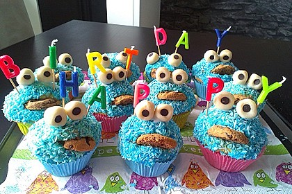 Krümelmonster Muffins 9